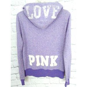Victoria's Secret PINK Full Zio Hoodie Purple M